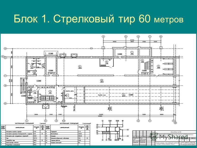Блок 1. Стрелковый тир 60 метров