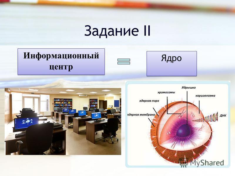 Задание II Информационный центр Ядро