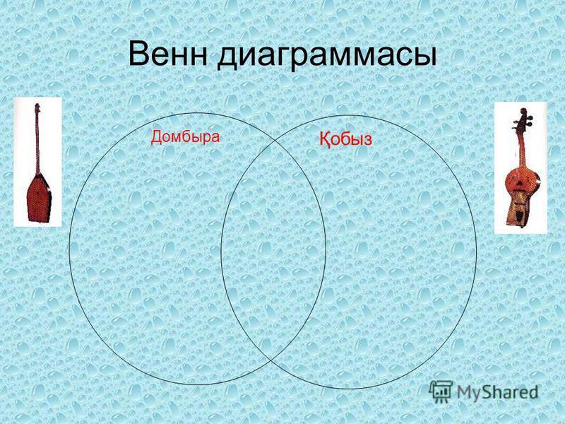 Венн диаграммасы Домбыра Қобыз