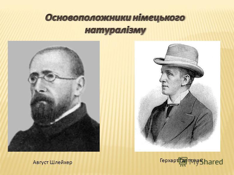 Герхарт Гауптман Август Шлейхер