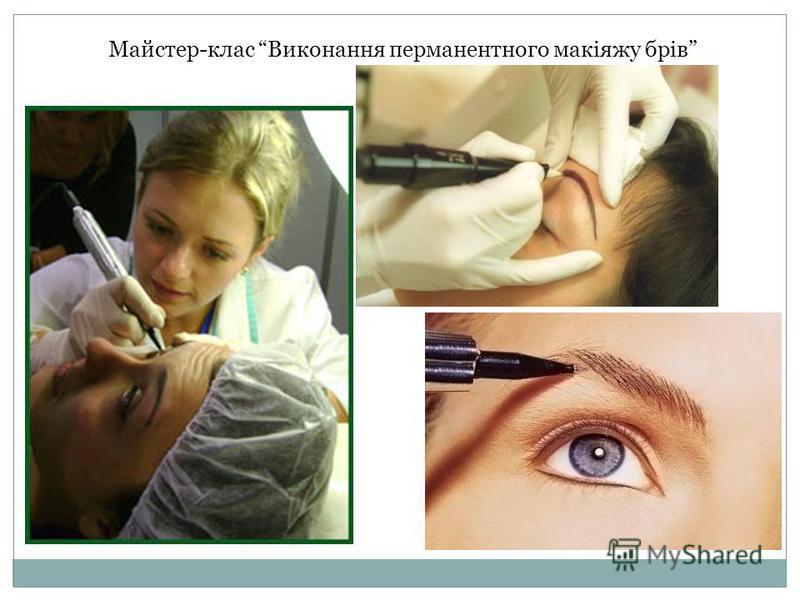 Майстер-клас Виконання перманентного макіяжу брів