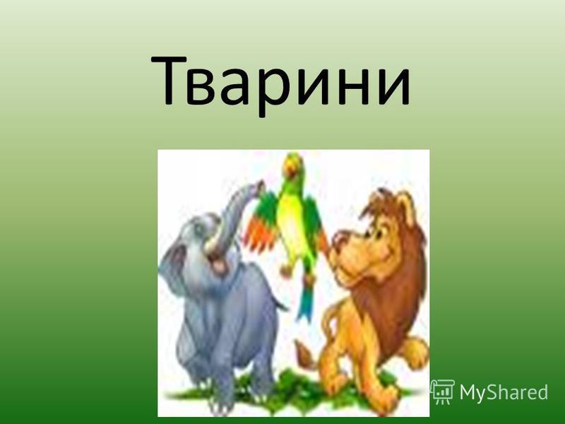 У світі є велика різноманітність всіх видів тварин. На Землі живуть близько 2 млн. тварин, а в Україні - більше 50 тисяч видів. І сьогодні ми почнемо населяти цю планету тваринами.