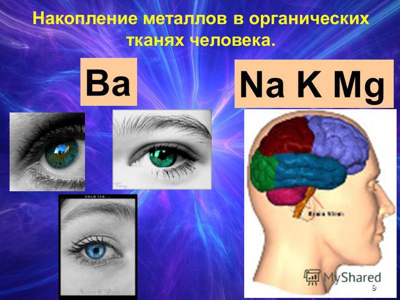 Ba Na K Mg Накопление металлов в органических тканях человека. 9