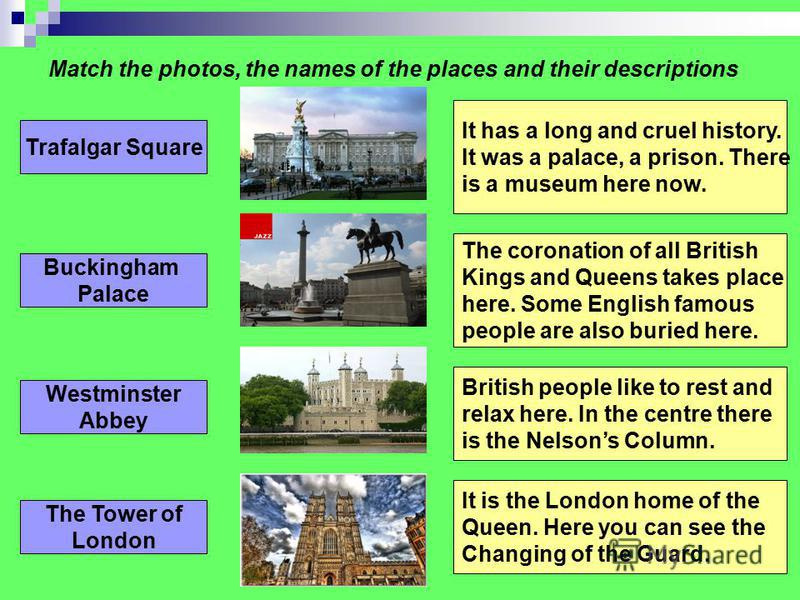 Put in 10 missing words London is the of the UK. It is a very city. It was founded about two thousand ago. London is one of the most and interesting in Europe. There are of to visit in London. There are a lot of, art, cinemas, theatres and parks in L
