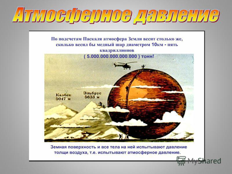 Тема урока: «Измерение атмосферного давления. Опыт Торричелли. Барометр- анероид. Атмосферное давление на различных высотах»