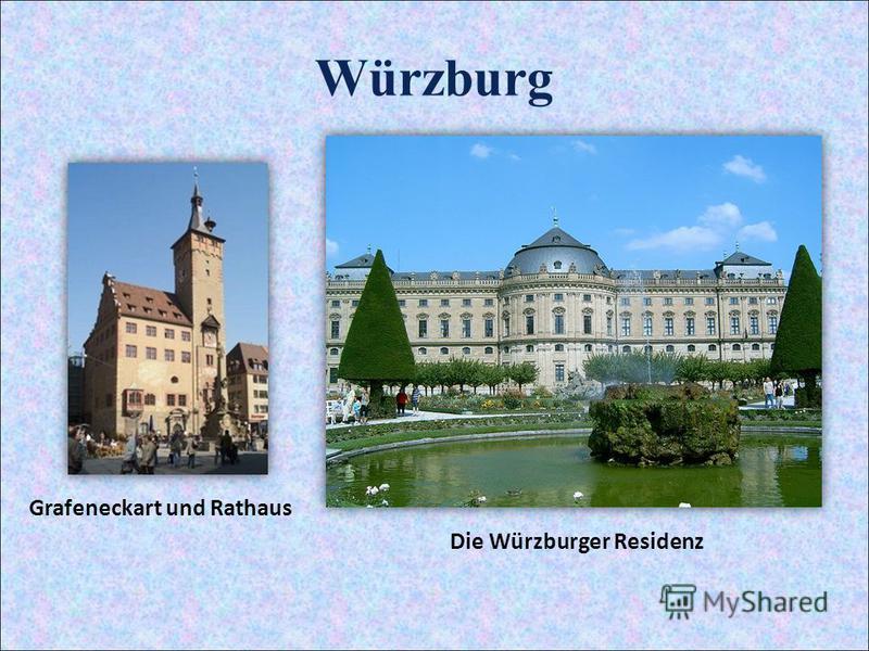 Würzburg Grafeneckart und Rathaus Die Würzburger Residenz