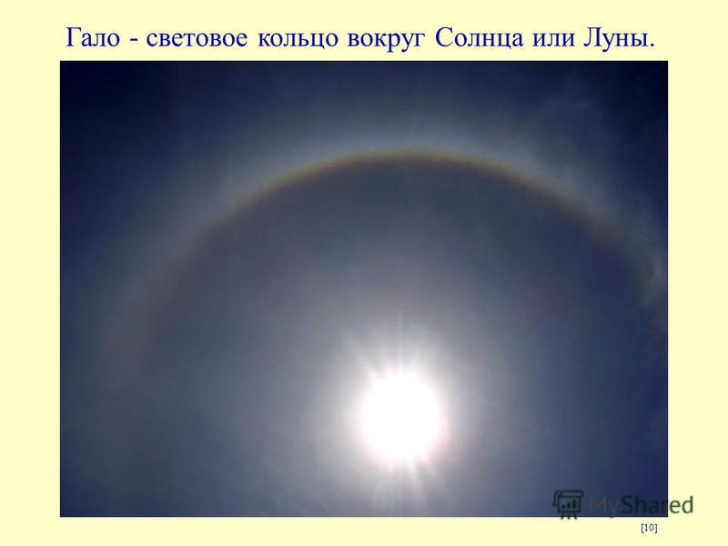 Гало - световое кольцо вокруг Солнца или Луны. [10]