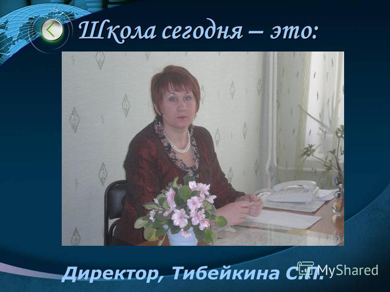 Школа сегодня – это: Директор, Тибейкина С.П.