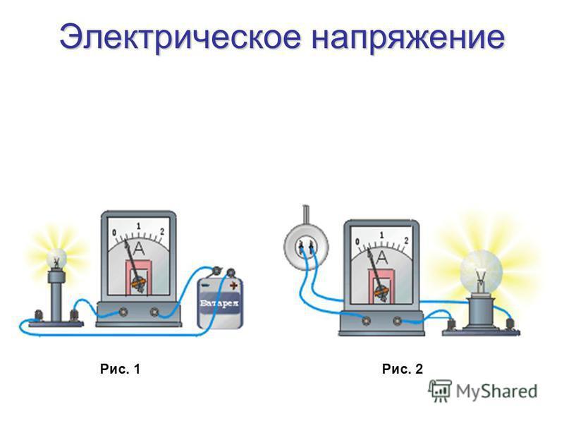 Электрическое напряжение Рис. 1Рис. 2