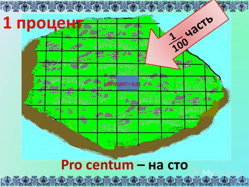 часть 1 100 Pro centum – на сто 1 процент