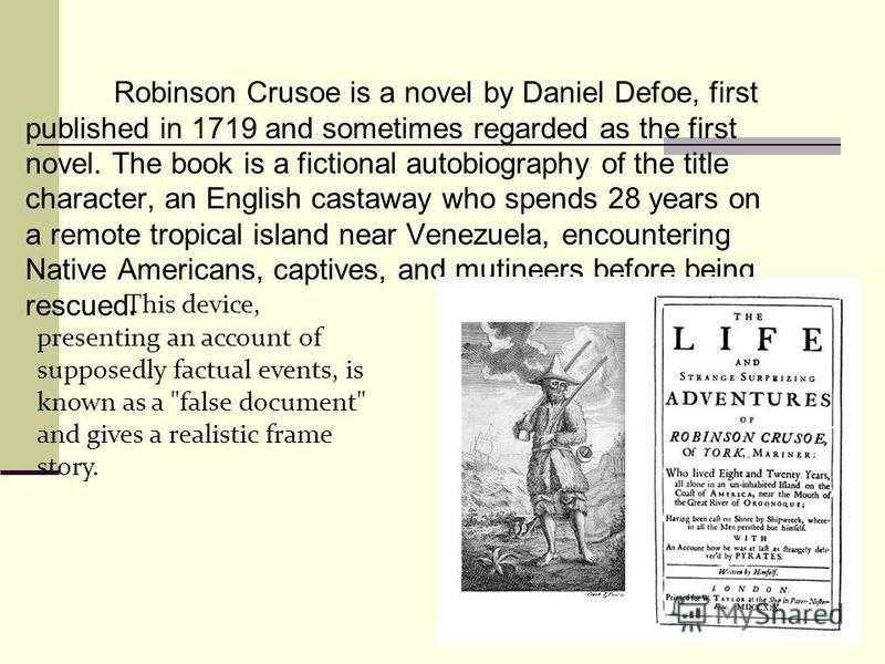 robinson crusoe was published in 1719
