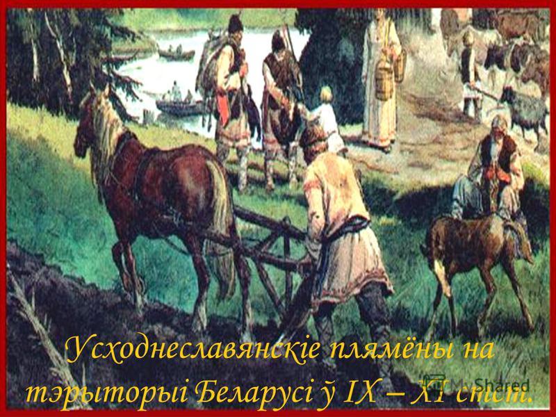 Усходнеславянскіе плямёны на тэрыторыі Беларусі ў IX – XI стст.