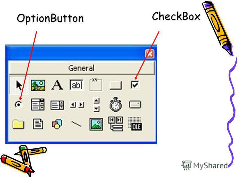 OptionButton CheckBox CheckBox