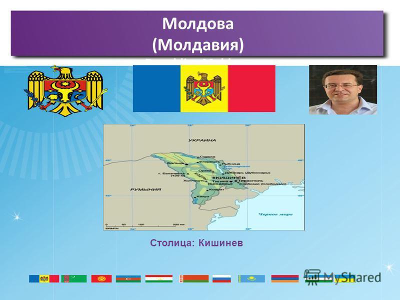 Молдова (Молдавия) Republica Moldova Столица: Кишинев