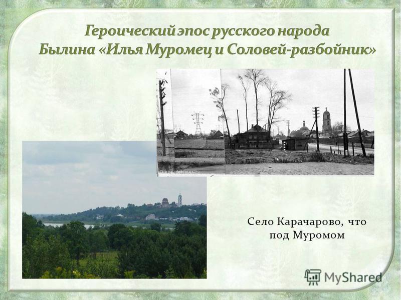 Село Карачарово, что под Муромом