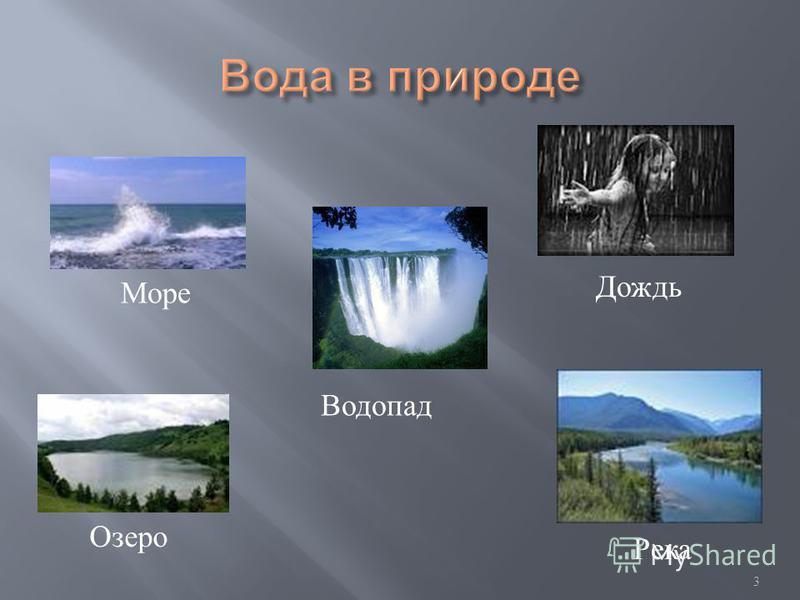 3 Водопад Море Дождь Река Озеро