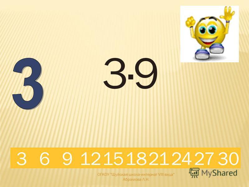 3·6 18691215321242730 ОГКОУ Шуйская школа-интернат VIII вида Абрамова Л.Н.