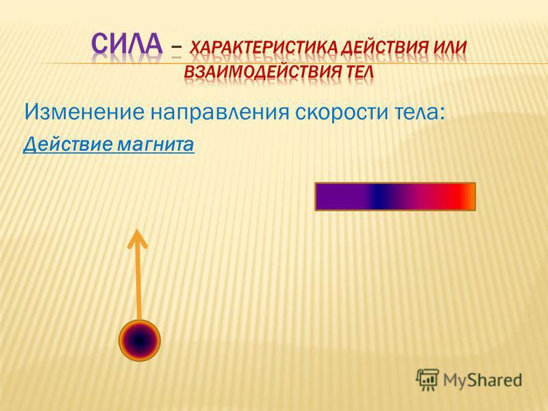 Изменение направления скорости тела: Действие магнита