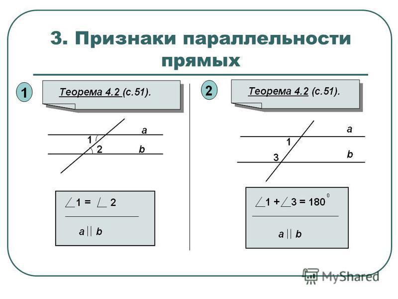 3. Признаки параллельности прямых