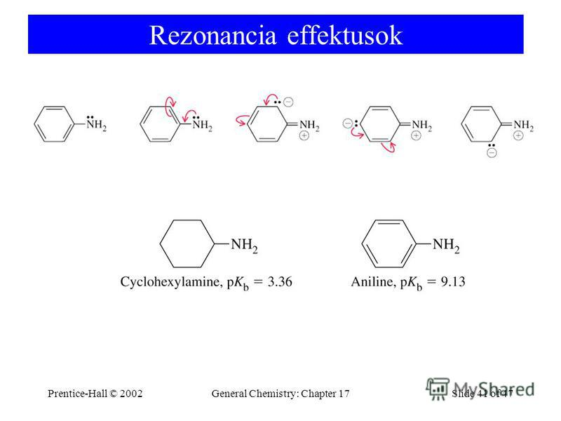 Prentice-Hall © 2002General Chemistry: Chapter 17Slide 41 of 47 Rezonancia effektusok