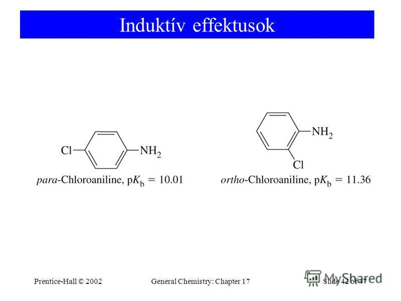 Prentice-Hall © 2002General Chemistry: Chapter 17Slide 42 of 47 Induktív effektusok