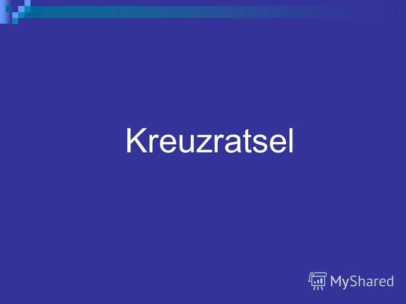 Kreuzratsel