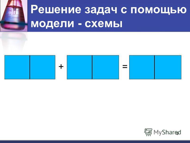 Решение задач с помощью модели - схемы += 9
