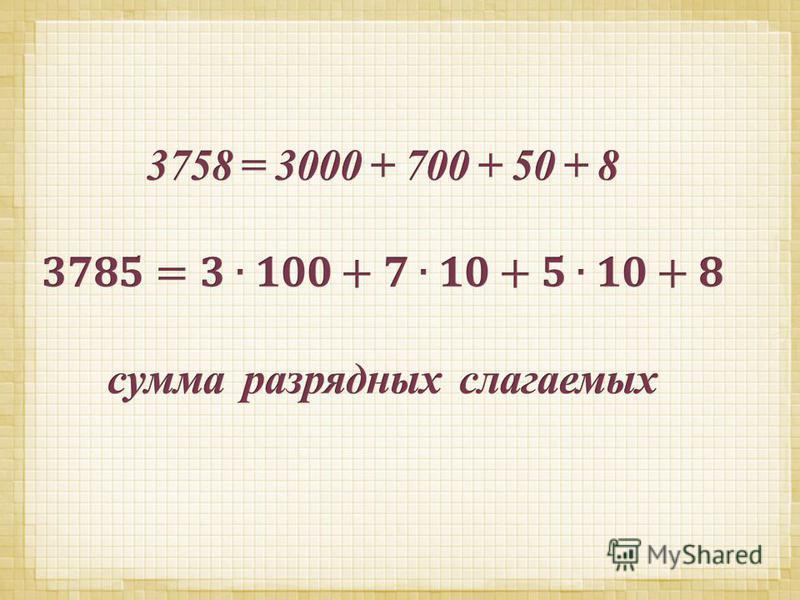 знакомство с нумерацией многозначных чисел