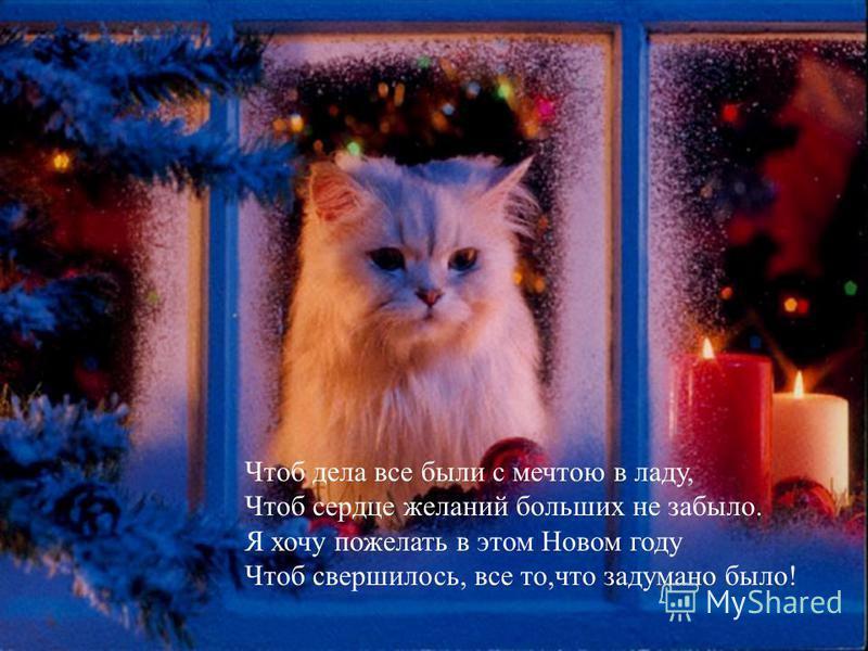 С Новым годом тебя поздравляю, С новым счастьем на новом пути! Все преграды тебе я желаю Без малейшего горя пройти. Пусть морозец тебя приласкает, Разукрасит щеки твои, С Новым годом тебя поздравляю, С годом счастья, удачи, любви!