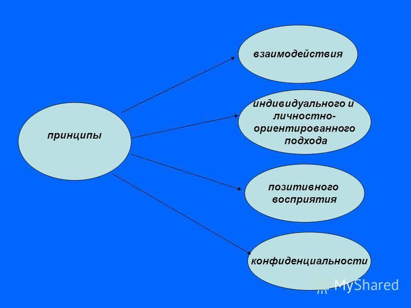 принципы взаимодействия индивидуального и личностно- ориентированного подхода позитивного восприятия конфиденциальности