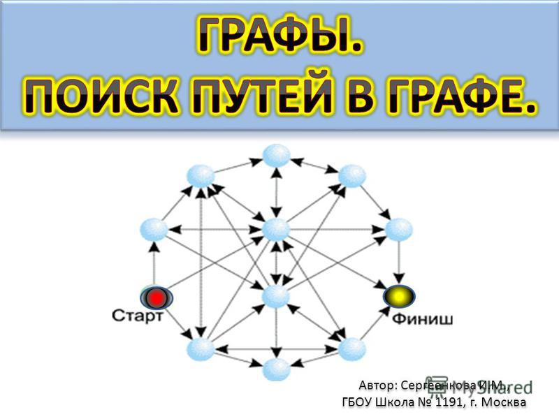 Автор: Сергеенкова И.М., ГБОУ Школа 1191, г. Москва Автор: Сергеенкова И.М., ГБОУ Школа 1191, г. Москва