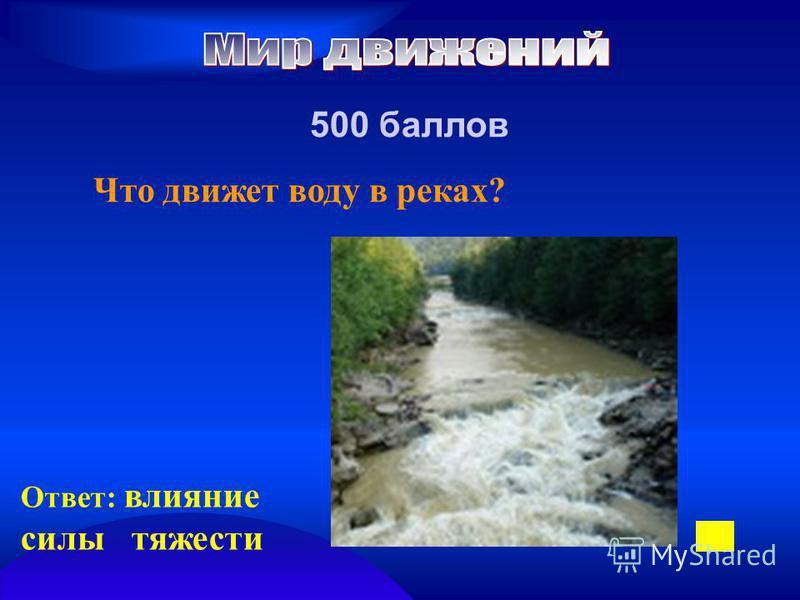 500 баллов Что движет воду в реках? Ответ: влияние силы тяжести