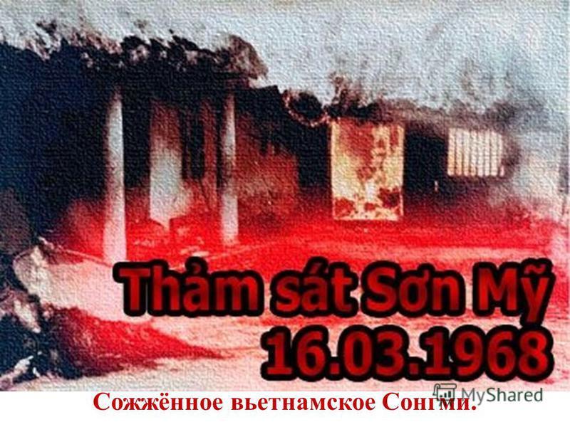 Сожжённое вьетнамское Сонгми.