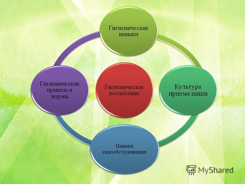 Гигиеническое воспитание Гигиенические навыки Культура приема пищи Навыки самообслуживания Гигиенические правила и нормы