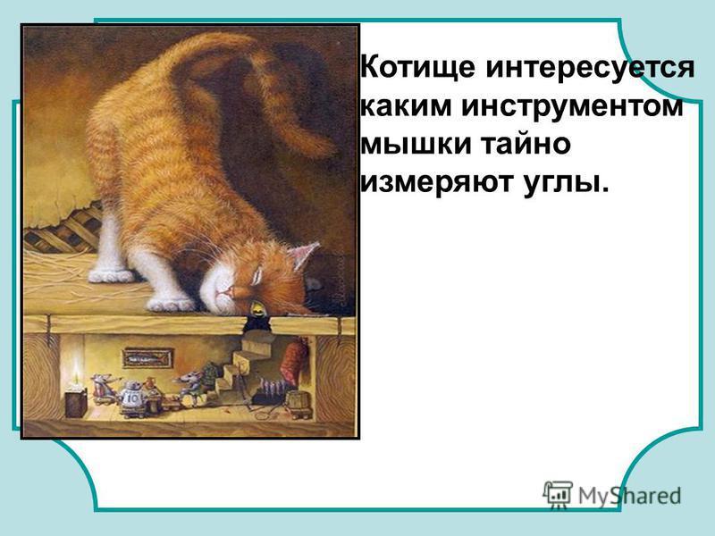 Котище интересуется каким инструментом мышки тайно измеряют углы.