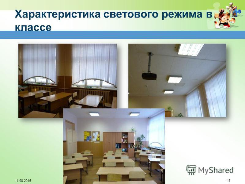 Характеристика светового режима в классе 11.08.201517
