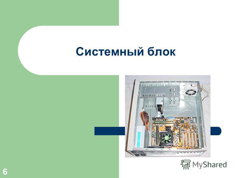 5 Структура ПК 13) мультимедиа компоненты звуковая карта, CD- ROM, DVD-ROM, карты видео ввода-вывода; 14) устройства коммуникаций модем, сетевая карта.
