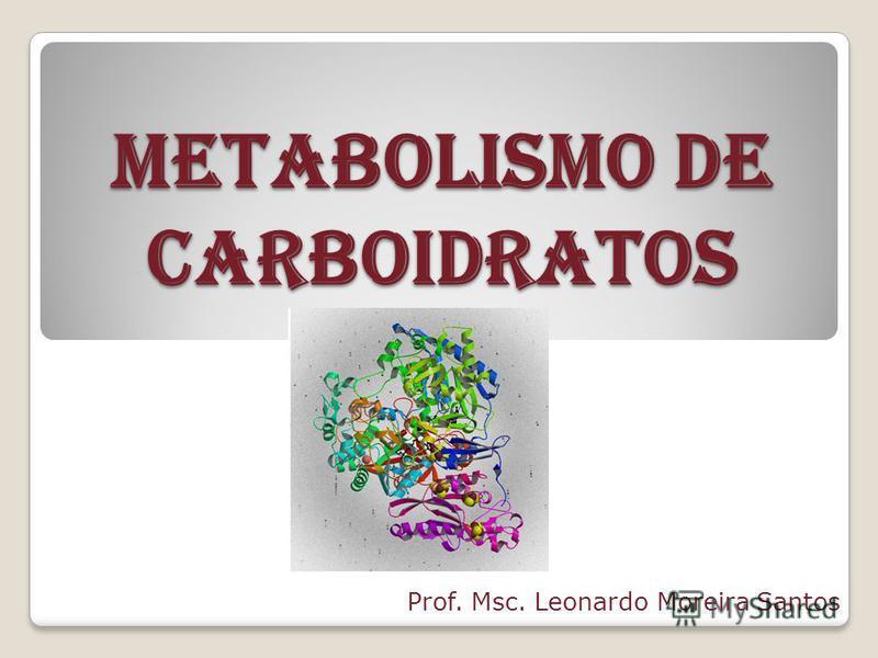METABOLISMO DE CARBOIDRATOS Prof. Msc. Leonardo Moreira Santos