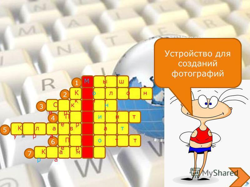 Кроссворд по информатике по теме «Устройства ввода и вывода информации» Сморыжов Владимир 8 класс
