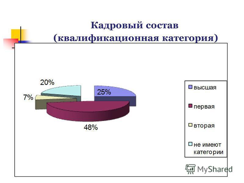 Кадровый состав (квалификационная категория)