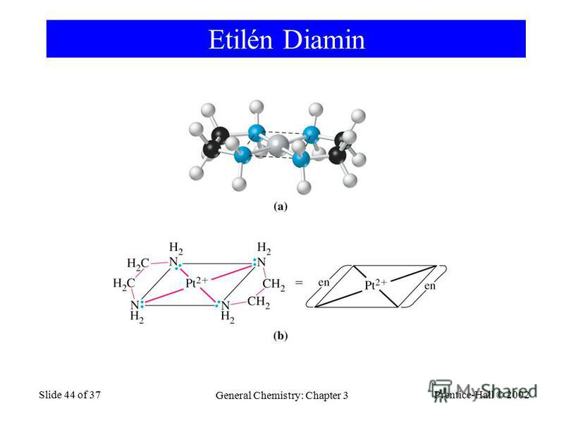 Prentice-Hall © 2002 General Chemistry: Chapter 3 Slide 44 of 37 Etilén Diamin