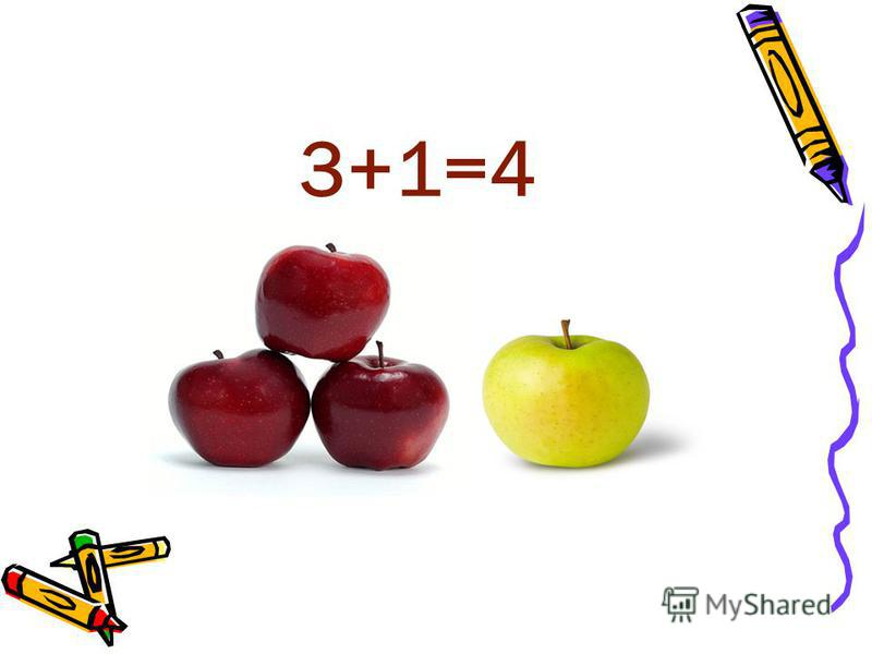 3+1=4