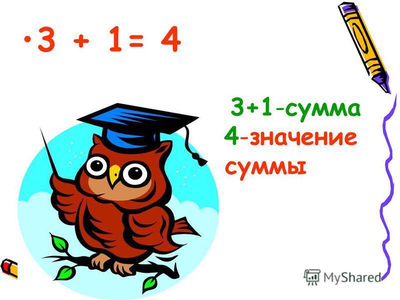 3+1-сумма 4-значение суммы
