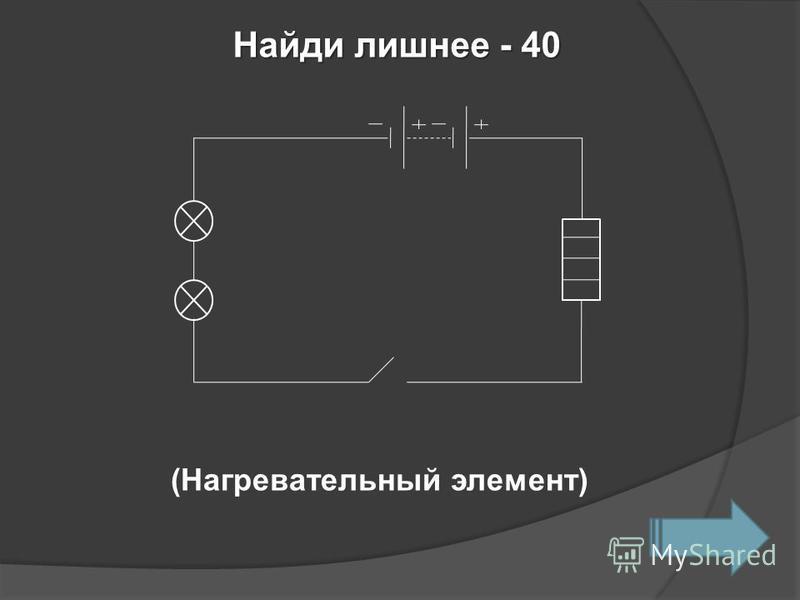 Найди лишнее - 40 (Нагревательный элемент)