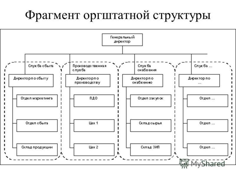 Фрагмент оргштатной структуры