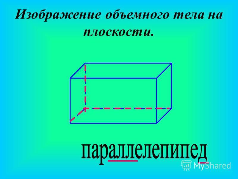 Изображение объемного тела на плоскости.