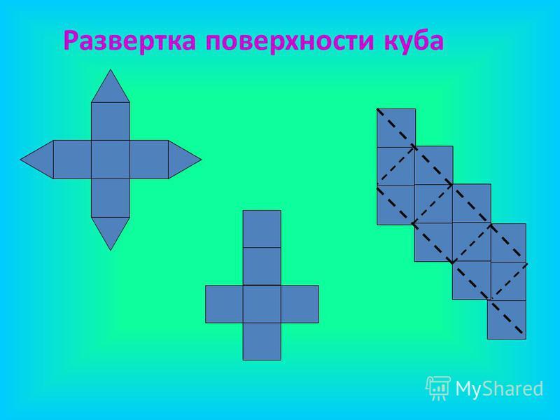 Развертка поверхности куба