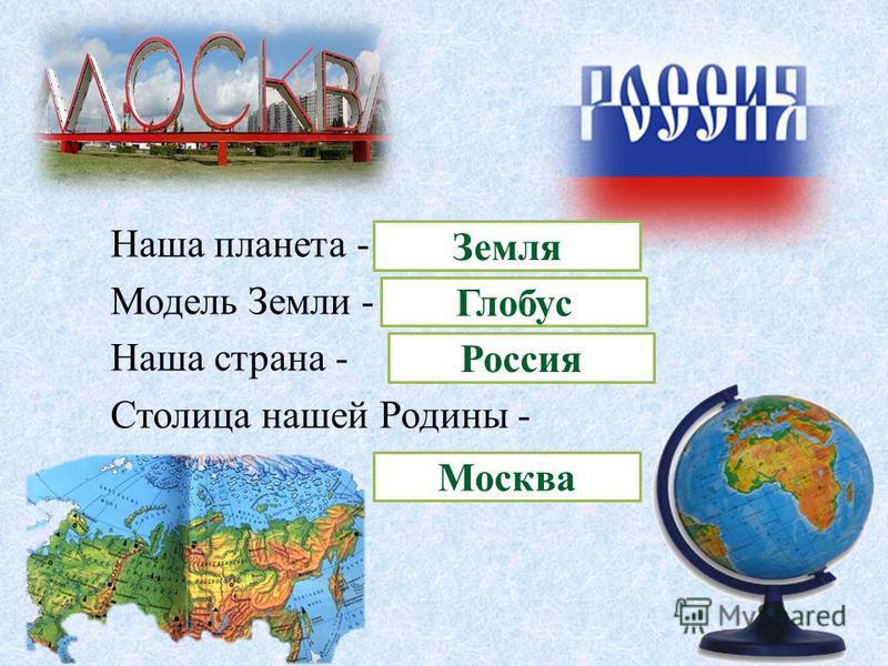 Наша планета - Модель Земли - Наша страна - Столица нашей Родины - Земля Глобус Россия Москва