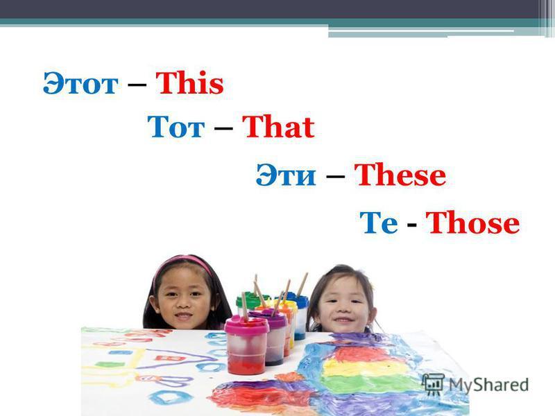 Этот – This Тот – That Эти – These Те - Those