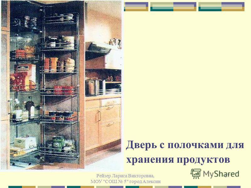 Рейзер Лариса Викторовна, МОУ СОШ 5 город Алексин 17 Дверь с полочками для хранения продуктов